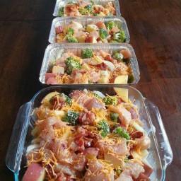 Freezer Cooking: Chicken, Broccoli, Bacon & Potato Bake