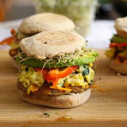 Freezer-friendly, Healthy Breakfast Sandwiches