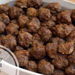 Freezer Friendly, Homemade Meatball Recipe