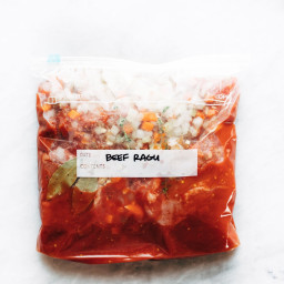 Freezer Meal Beef Ragu