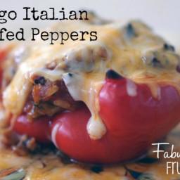 Freezer Meal Recipes:Asiago Italian Stuffed Peppers