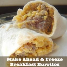 Freezer Meal: Sausage and Egg Breakfast Burritos