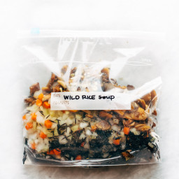 Freezer Meal Wild Rice Soup