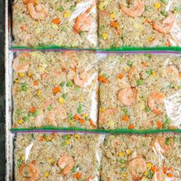 Freezer Shrimp Fried Rice