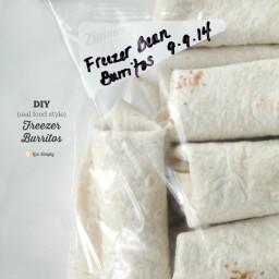 Freezer Bean Burritos