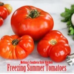 Freezing Summer Tomatoes