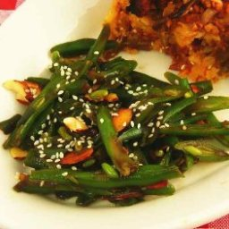 French Beans with Sesame Dressing