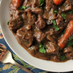 French Beef Burgundy for the Crock Pot
