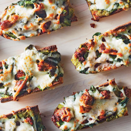 French Bread Pizzas WithSausage