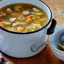 French country chicken soup