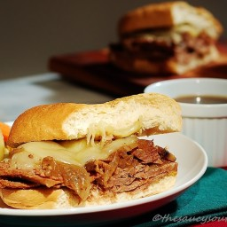 French Dip Sandwich (Leftover Beef) with an Easy Au Jus Recipe