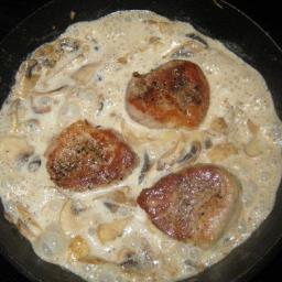 French Pork with Mushrooms