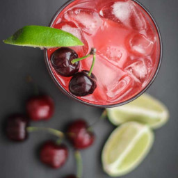 Fresh Cherry and Lime Margarita
