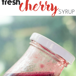 Fresh Cherry Syrup