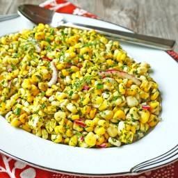 Fresh Corn and Herb Salad
