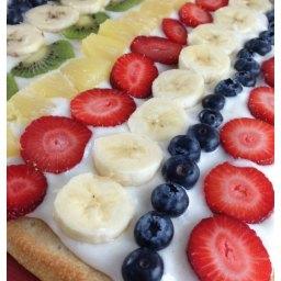 Fresh Fruit Pizza Recipe (made with Pizza Dough from a Can!)