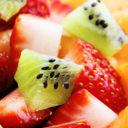 Fresh Fruit Salad with Honey, Mint & Lime Syrup