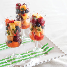 Fresh Fruit Salad with Lime Syrup