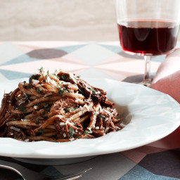 Fresh Pasta with Pork Shoulder and Cocoa Sugo