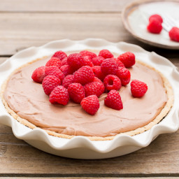 Fresh Raspberry French Silk Pie