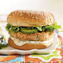 Fresh Salmon-Cilantro Burgers