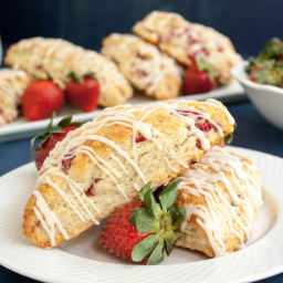 Fresh Strawberry Cream Scones