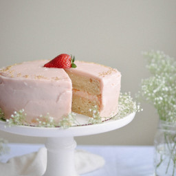 Fresh Strawberry Rhubarb Cake