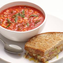 Fresh Tomato Soup With Grilled Cheese