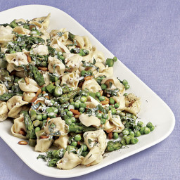 Fresh Tortellini with Asparagus, Peas, and Mint