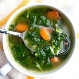 Fresh Turnip Green Soup Recipe [+Video] 🥬 MasalaHerb.com