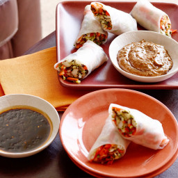 Fresh Vegetable Spring Rolls with Two Dipping Sauces