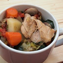 Fricassee of Chicken with Winter Vegetables