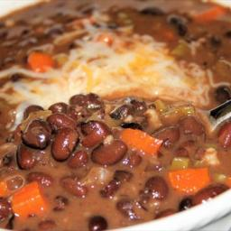 Friday's black bean soup