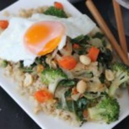 Fried Egg Kimchi Stir Fry