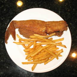 Fried Fish, Tartar Sauce, French Fries and Hushpuppies