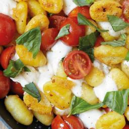 Fried Gnocchi with Mozzarella and Cherry Tomatoes