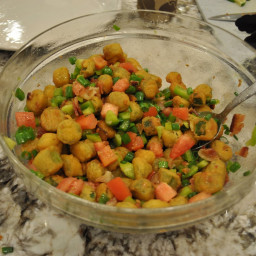 Fried Okra Salad