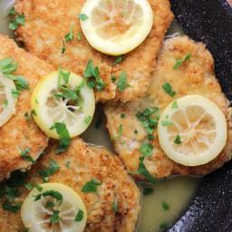 Fried Pork Chops in Lemon Butter Sauce