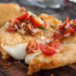 Fried Provolone with Italian Salsa
