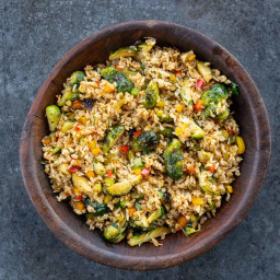 Fried Rice With Brussels Sprouts Recipe