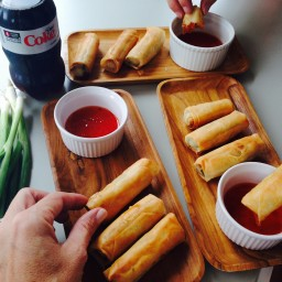 FRIED SWEET AND SOUR EGG ROLLS
