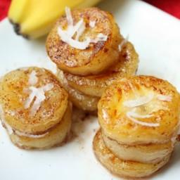 Fried Honey Coconut Bananas