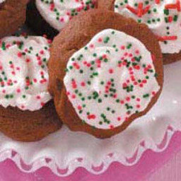 Frosted Molasses Spice Cookies Recipe