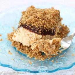 Frozen Peanut Butter Crunch Cake