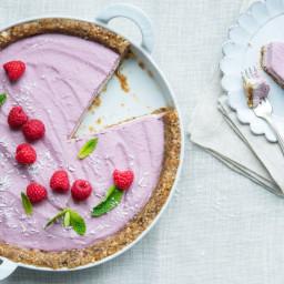 Frozen Raspberry Cashew Cream Cake