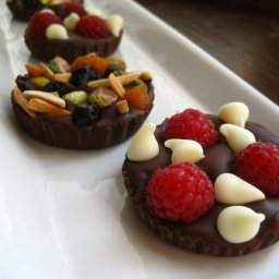 Fruit and Nut Chocolate Dessert