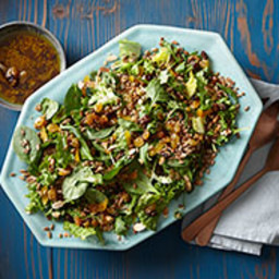 Fruit and Nut Salad with Mixed Greens and Pickled Raisins