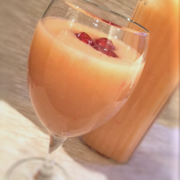 Fruit Cocktail and Pear Smoothie