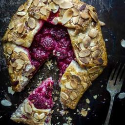 Fruit Galette with Raspberry & Almond