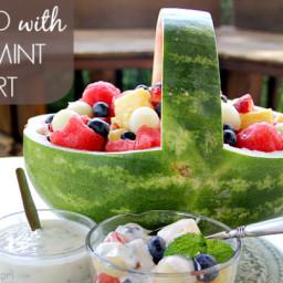 Fruit Salad with Honey-Mint Yogurt